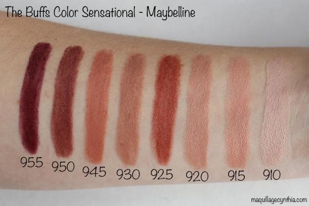 Nouveaux rouges à lèvres The Buffs de Maybelline