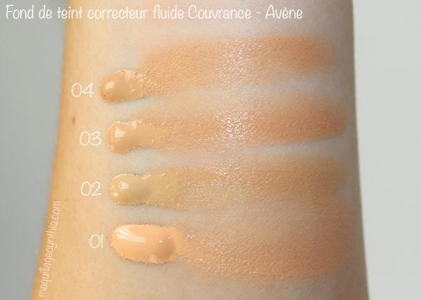Fond de teint correcteur fluide Couvrance Avène swatch