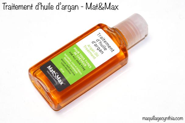 Huile d'argan Mat&Max