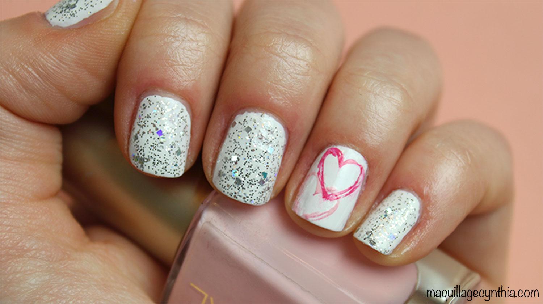 Nail art pour la saint valentin maquillage cynthia - Ongle st valentin ...