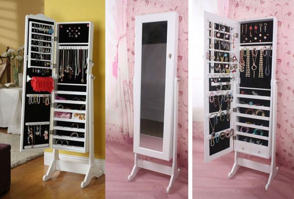 Armoire miroir à bijoux