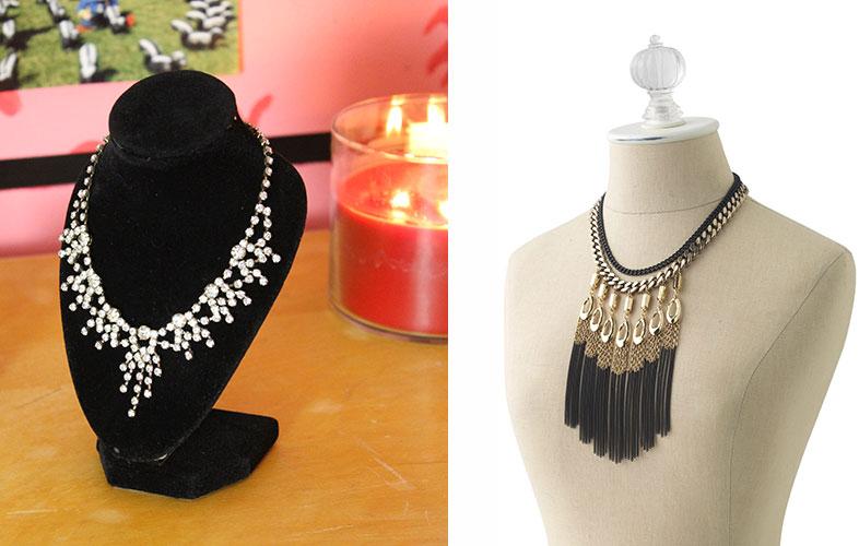 Id es de rangement pour les bijoux maquillage cynthia - Fabriquer porte bijoux facile ...