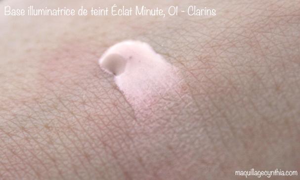 Base Illuminatrice de teint Éclat Minute de Clarins swatch