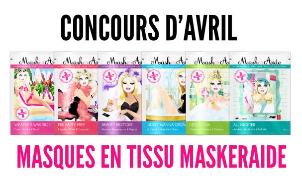 Concours jolie peau grâce à Maskeraide !