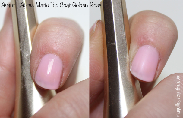 Top coat effet mat / Matte Top Coat