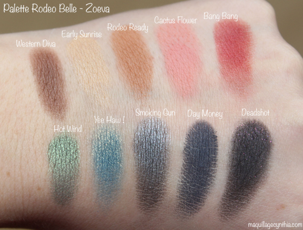 Palette Rodeo Belle Zoeva swatch