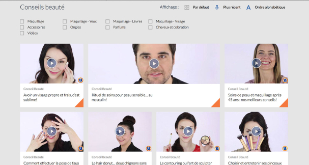 Quelques vidéos conseils beauté sur le site d'Uniprix
