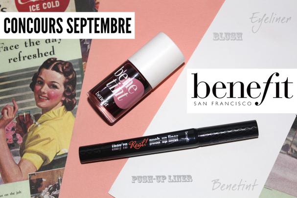Concours de Septembre avec Benefit !