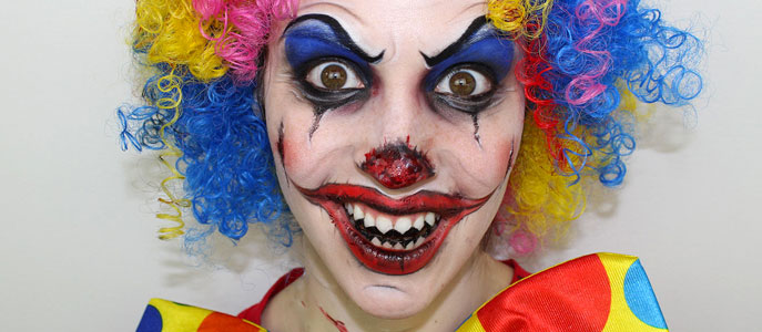 Maquillage clown diabolique maquillage cynthia - Maquillage de clown facile ...