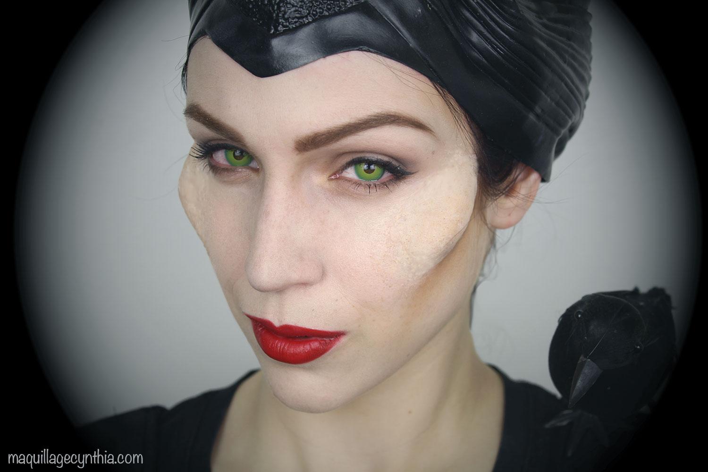 Maquillage Dhalloween Maléfique