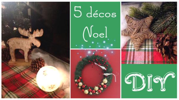 5 décos de Noël DIY !