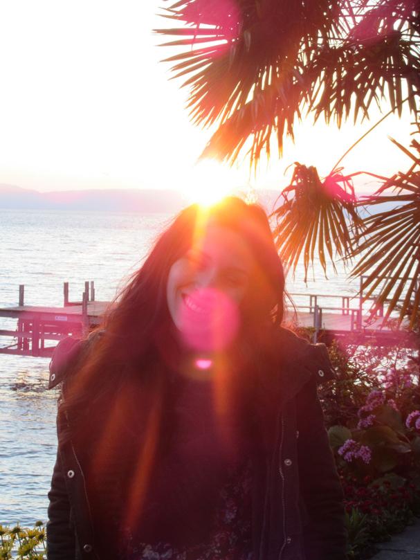 Coucher de soleil à Montreux