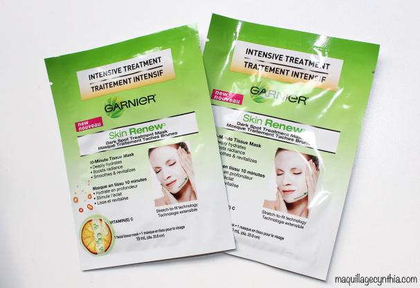 Masques Skin Renew de Garnier