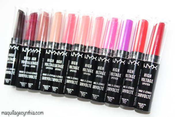 Rouges à lèvres survoltés High Voltage Lipsticks
