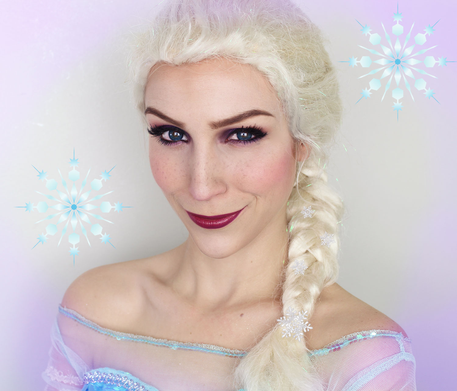 maquillage d 39 halloween elsa la reine des neiges maquillage cynthia