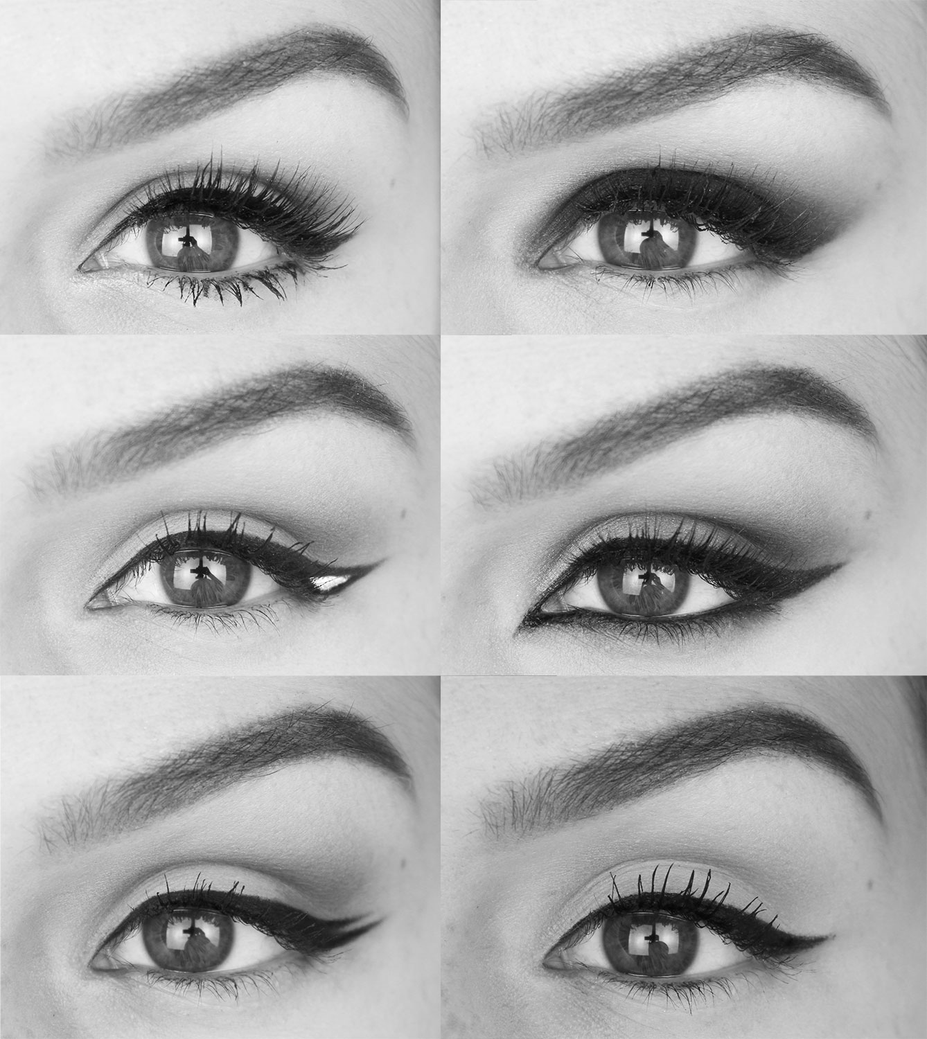 6 styles de traits d eye liner. Black Bedroom Furniture Sets. Home Design Ideas