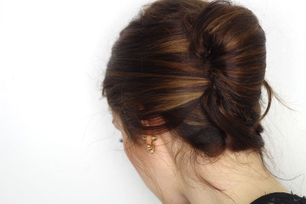 Chignon french twits