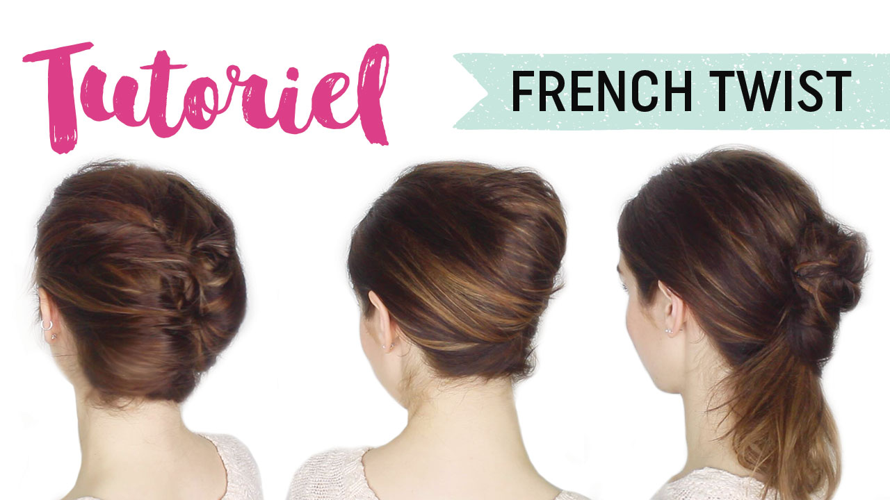 tuto coiffure french twist 3 fa ons maquillage cynthia. Black Bedroom Furniture Sets. Home Design Ideas