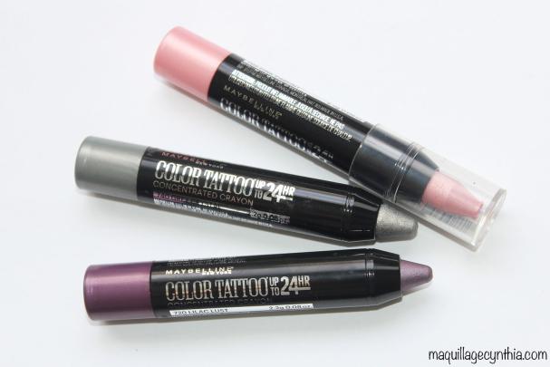 Crayons couleur concentrée Color Tattoo 24h
