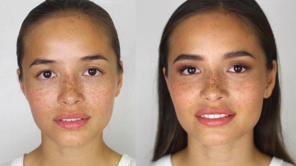 Maquillage pour les tâches de rousseur