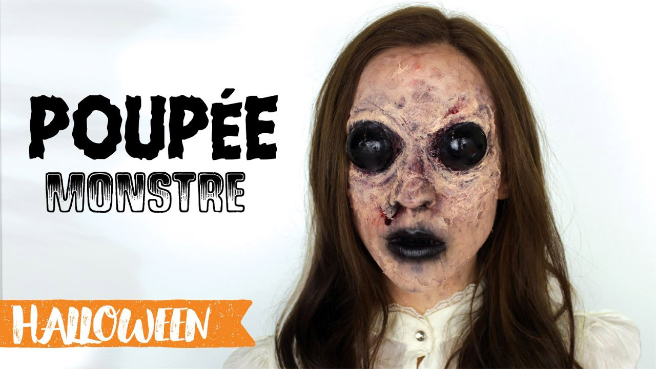 Maquillage d 39 halloween la cr ature maquillage cynthia - Maquillage poupee halloween ...