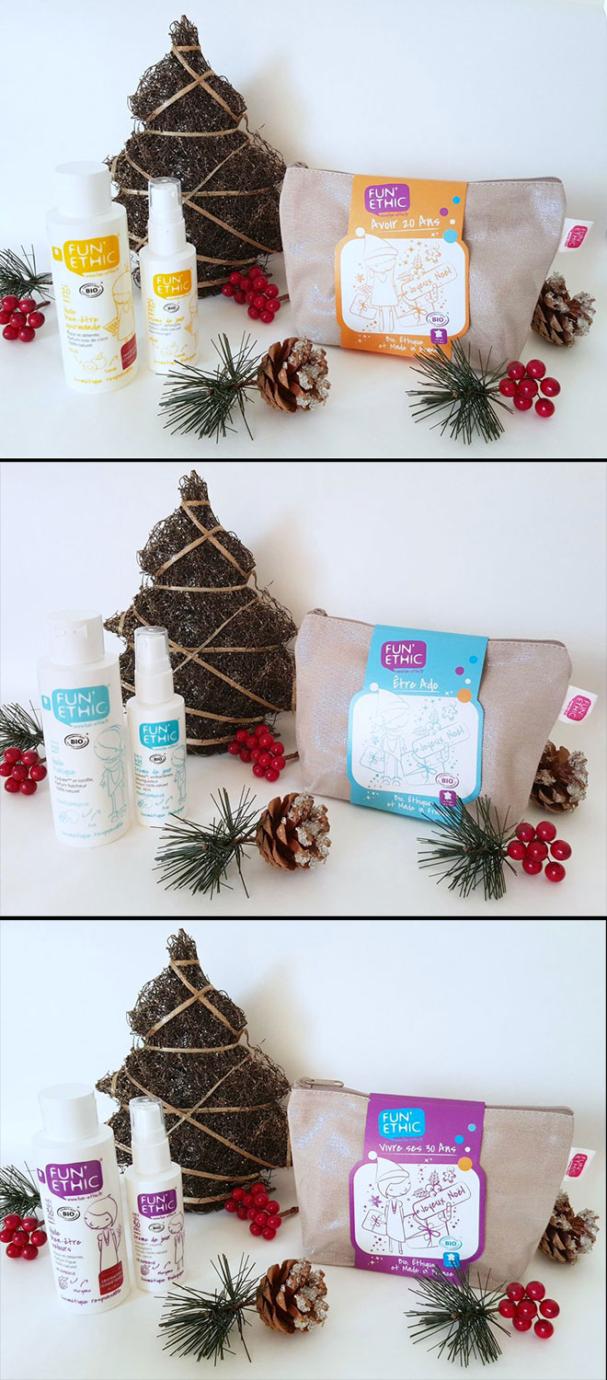 Lots de Noël cosmétique bio - FUN'ETHIC