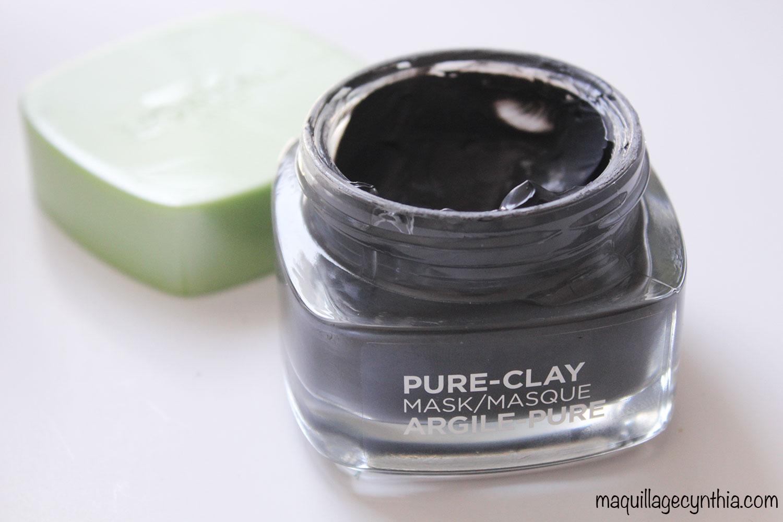 j ai test les masques pure clay de l or al maquillage cynthia. Black Bedroom Furniture Sets. Home Design Ideas