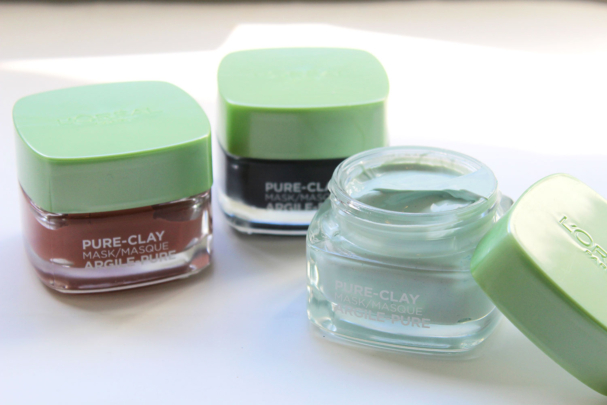 masques Pure Clay de L'Oréal