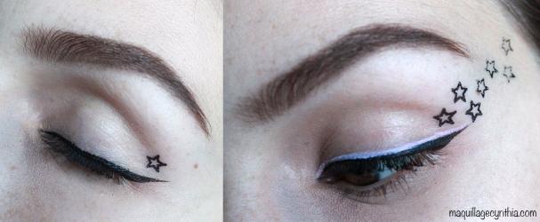 Crayon contour des yeux + estampe