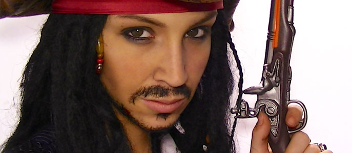 Maquillage d'Halloween: Jack Sparrow