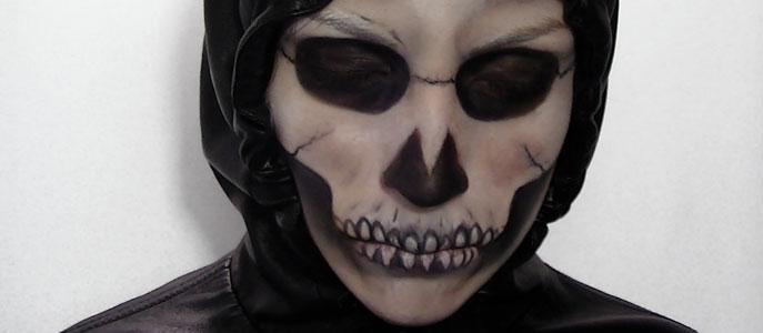 Maquillage d'Halloween: Squelette