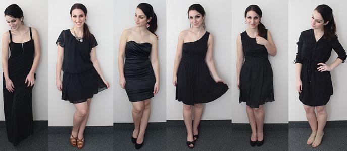 silueta cada pequeño negro Un para vestido eQCBWrxdo