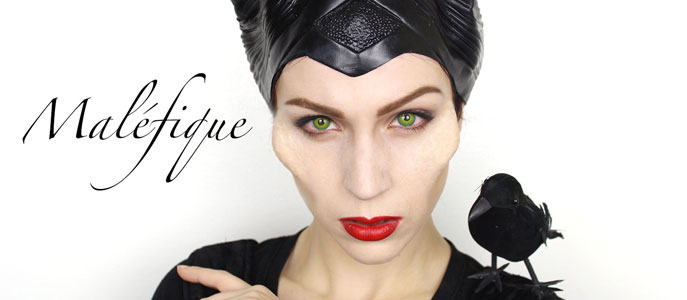 Maquillage d'Halloween : Maléfique
